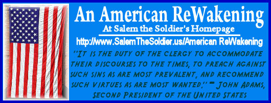 Promo Graphic for Salem the Soldiers&#39; Homepage, American Rewakening site!