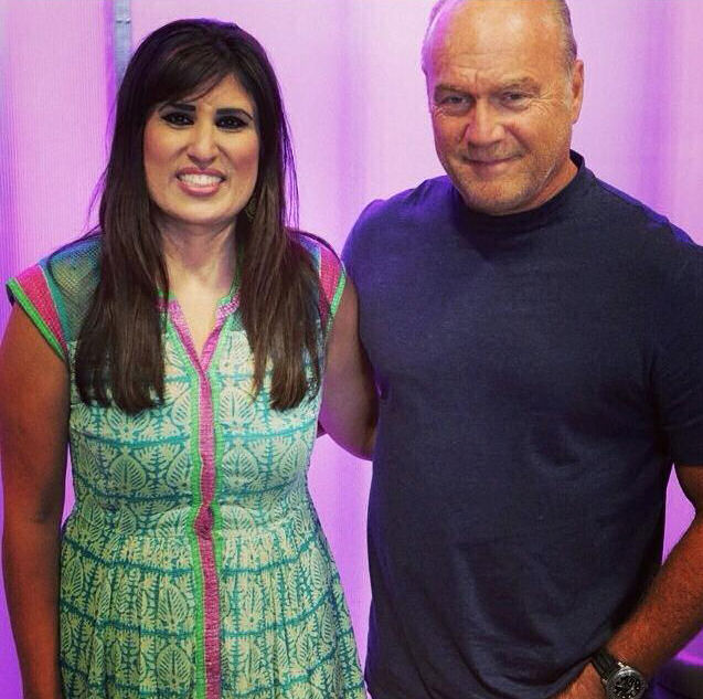 Naghmeh Qureshi with Pastor Greg Laurie